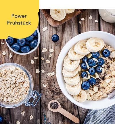 Ernährungsplan Beispiel-Rezept Frühstück Porridge